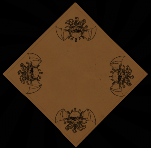 One-Color Four Corners Airships and Tentacles Bandana