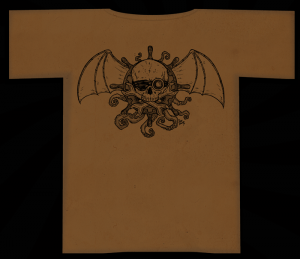 One-Color Airships and Tentacles Dusty-Brown Tee